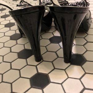 Anne Klein Shoes - Anne Klein peep toe bow heels